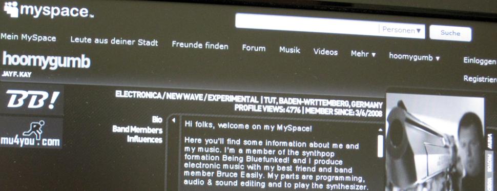 Jay F Kay auf MySpace