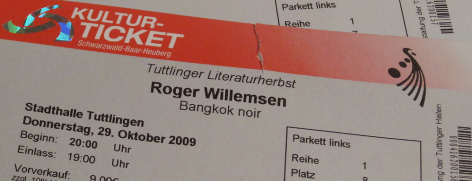 Ticket: Roger Willemsen's Bangkok Noir