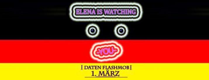 Daten Flashmob 1. März 2010 bei Facebook