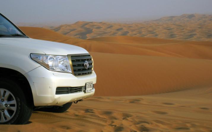 Mit dem Jeep in der Wüste