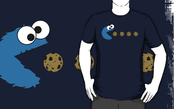 Krümelmoster-Pacman-T-Shirt
