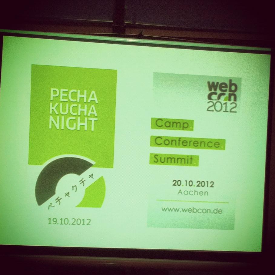 webcon2012 Pecha Kucha Night