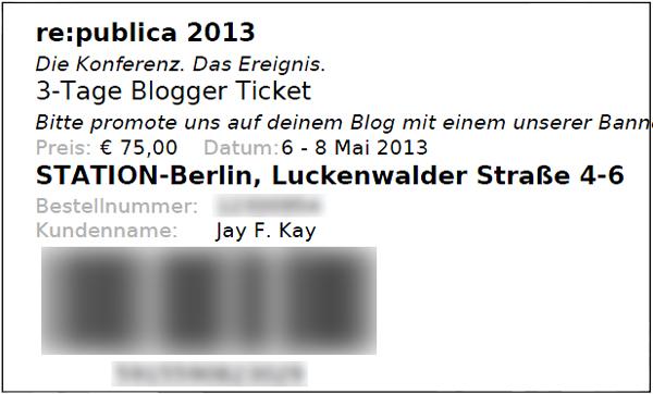 3-Tage-Blogger-Ticket für die #rp13
