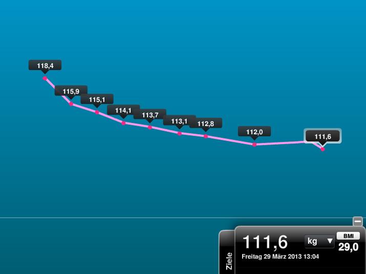 Gewichtsverlauf Abnehmduell 2013