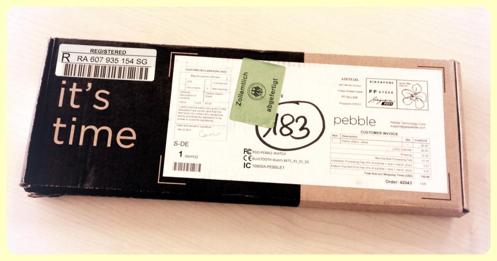 it's time: Pebble