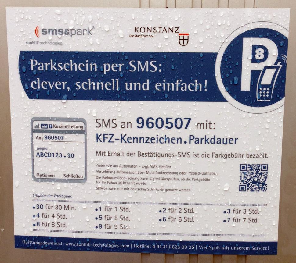 Howto sms&park Konstanz