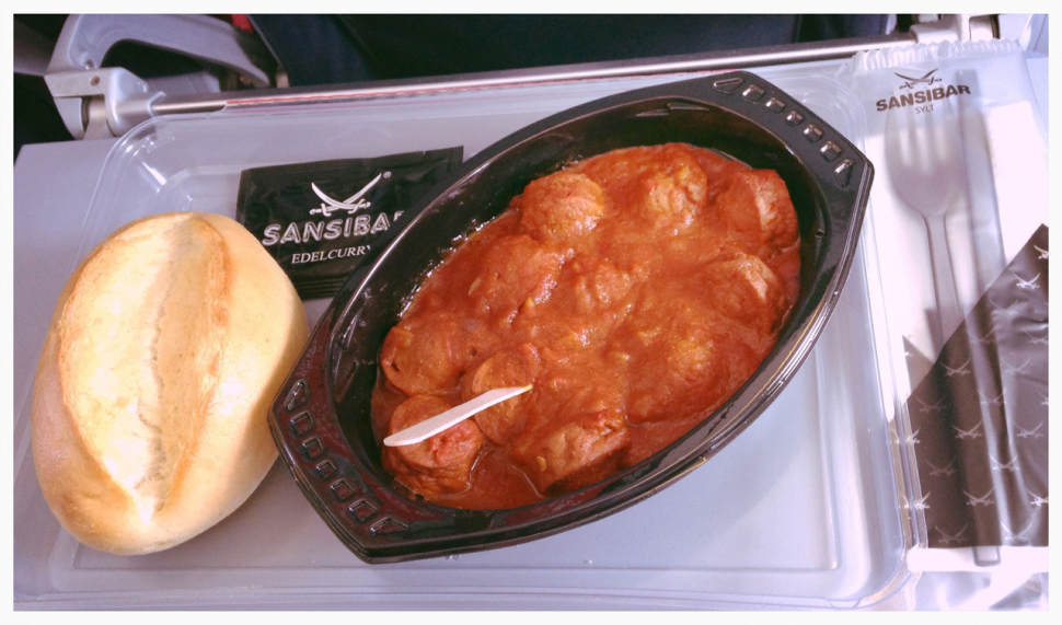 airberlin Sansibar Currywurst