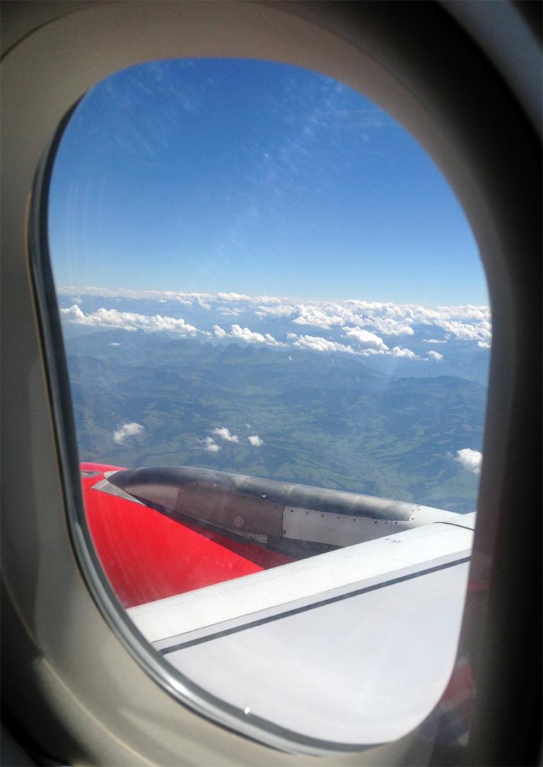 Blick aus dem A320