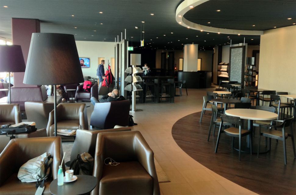 Wartebereich in der Hugo Junkers Lounge