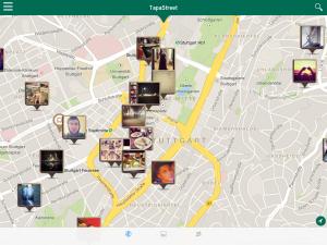 Schauplatz-Suchergebisse als Kartenansicht