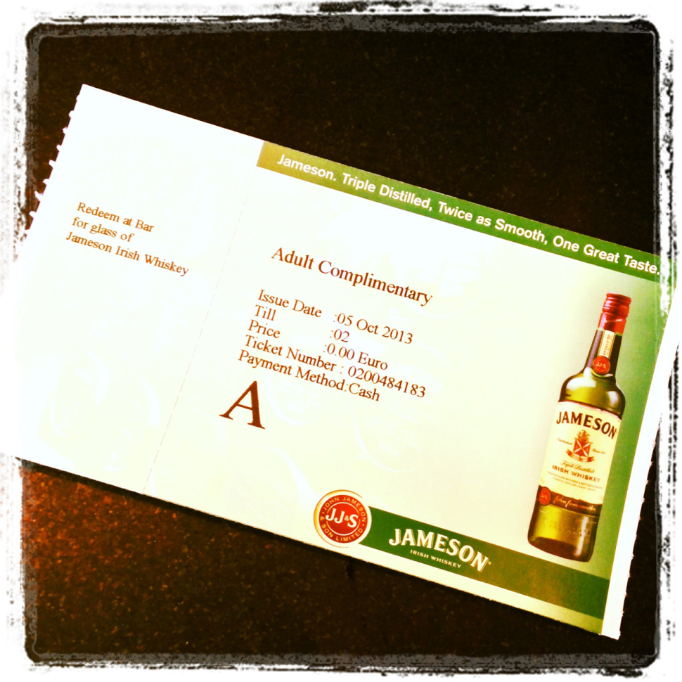 Ticket Old Jameson Distillery