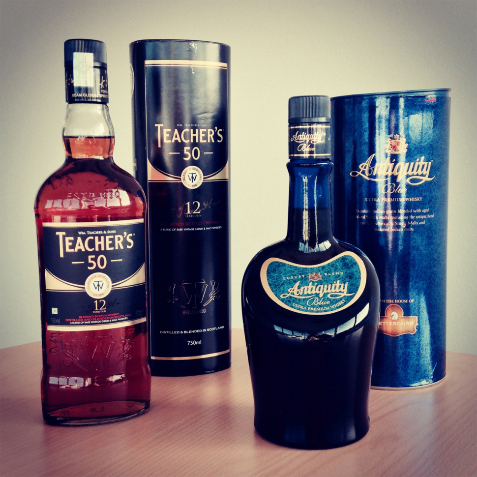 Teacher's 50, 12 Jahre & Aniquity Blue