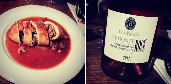 Calamari con Rosé Piemonte