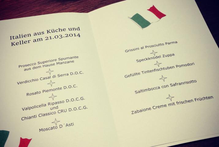 Italien aus Küche und Keller am 21.03.2014