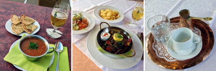 Abendessen im Gasthof Grüner Baum