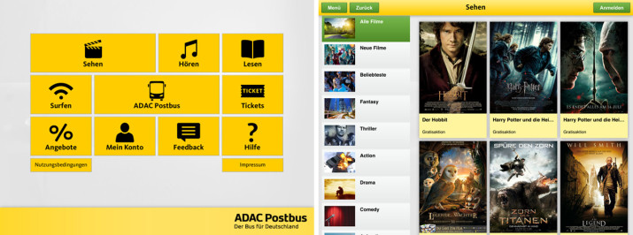 Screenshot Media Center App