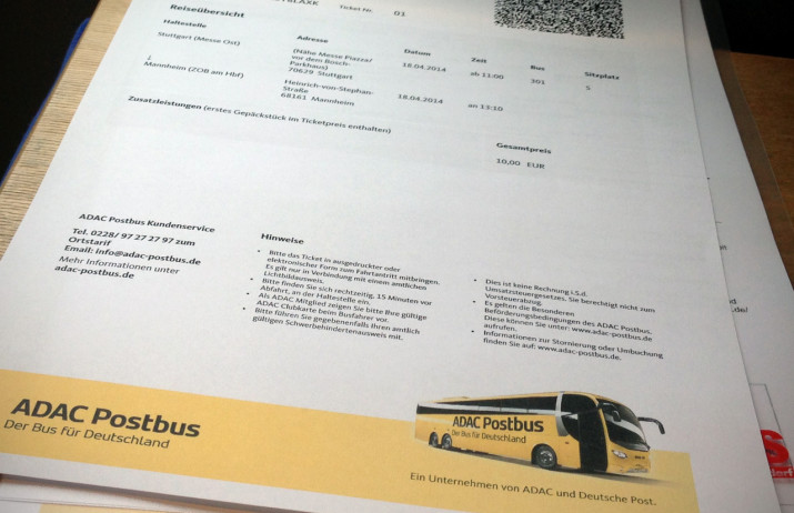Ticket Stuttgart-Mannheim