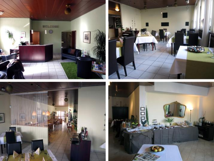 Empfang, Restaurant und Frühstücksbuffet