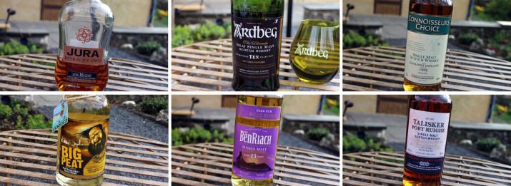 Lineup des whiskySBH im April 2014