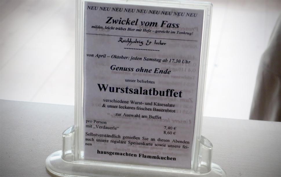 Aufsteller Wurstsalatbuffet