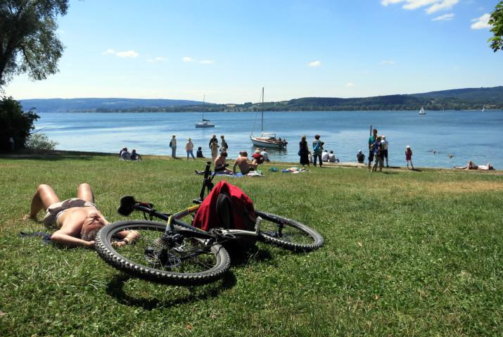 Sonnenbaden am Bodensee