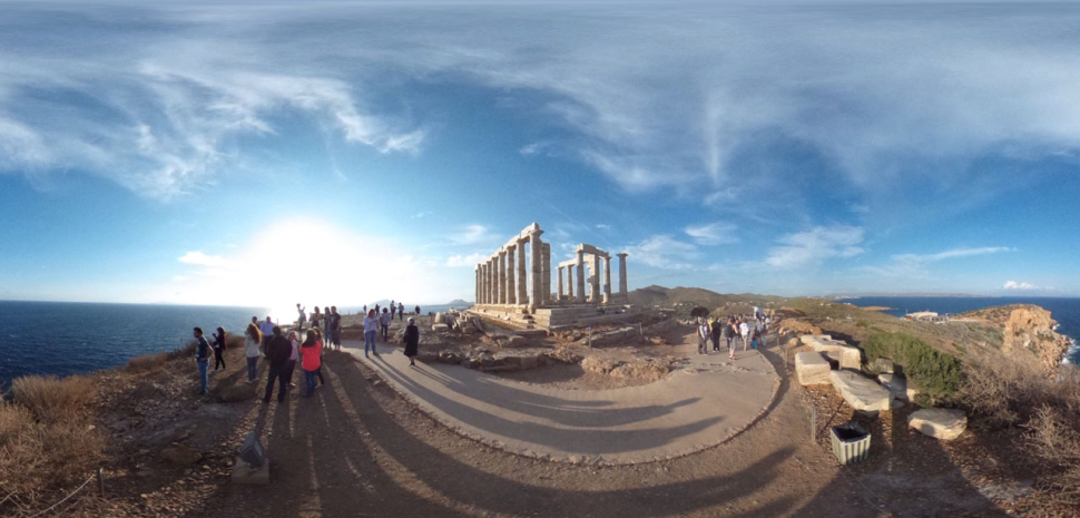 360 Grad-Panorama von Poseidons Tempel