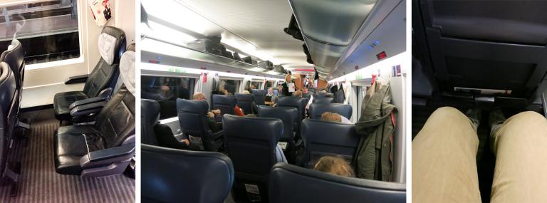 Erste Klasse im InterCity Express der Deutschen Bahn