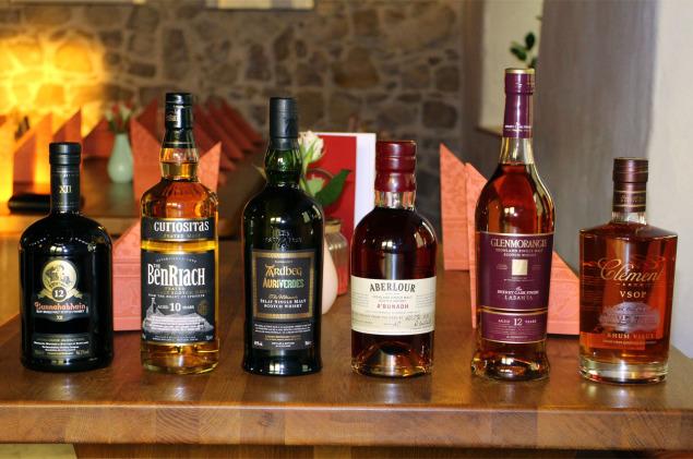 Lineup des Tasteup-Whiskymenüabend 10/2014