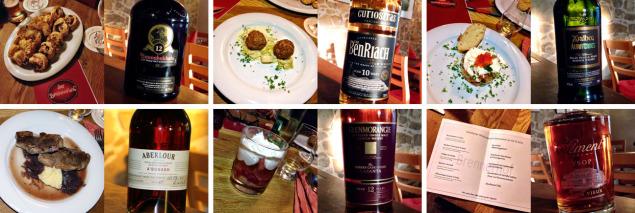 Tasteup-Whiskymenü im Oktober 2014