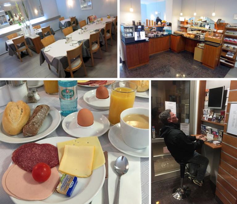 Frühstück und Internet-Terminal