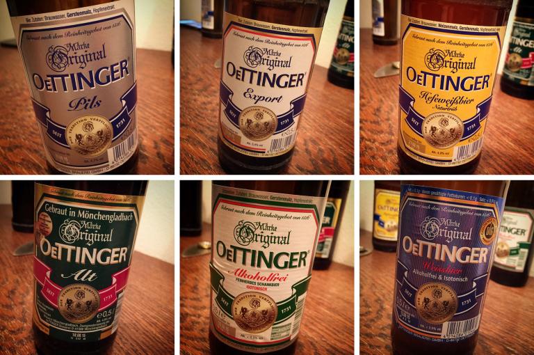 OeTTINGER Bier-Lineup