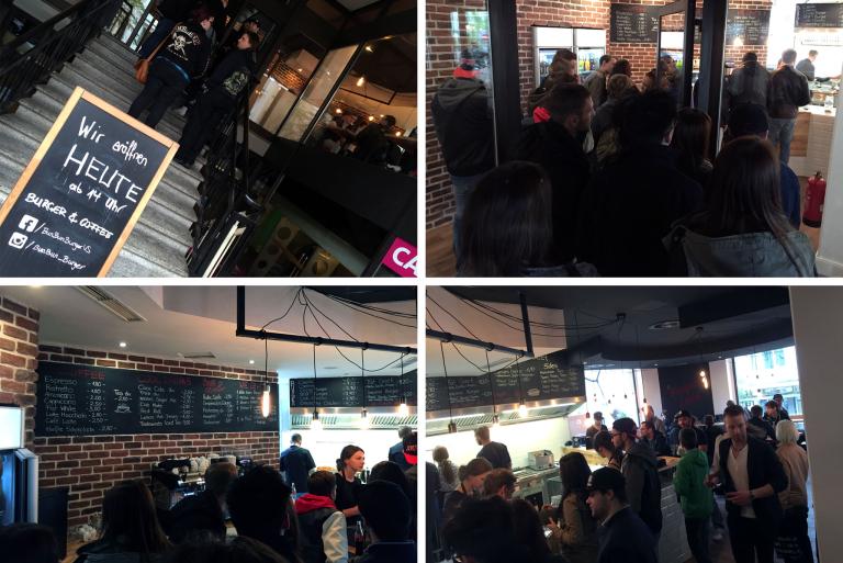 Eröffnungsandrang bei BunBun Burger