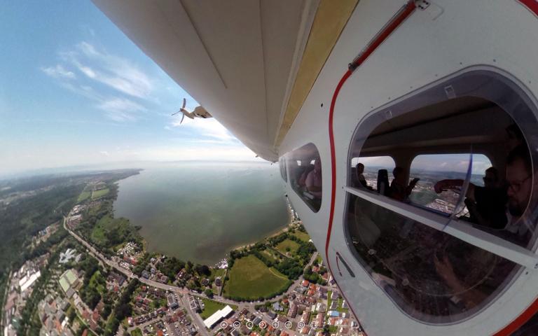 Zeppelinflug über Friedrichshafen