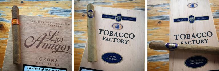 Zigarrenauswahl am Abend