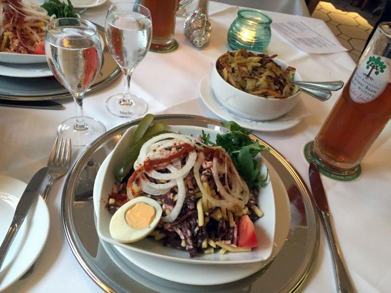 Wurstsalatessen im Restaurant Grüner Baum