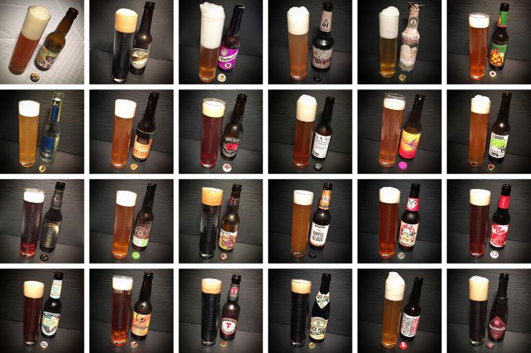 Die 24 Biere im Glas