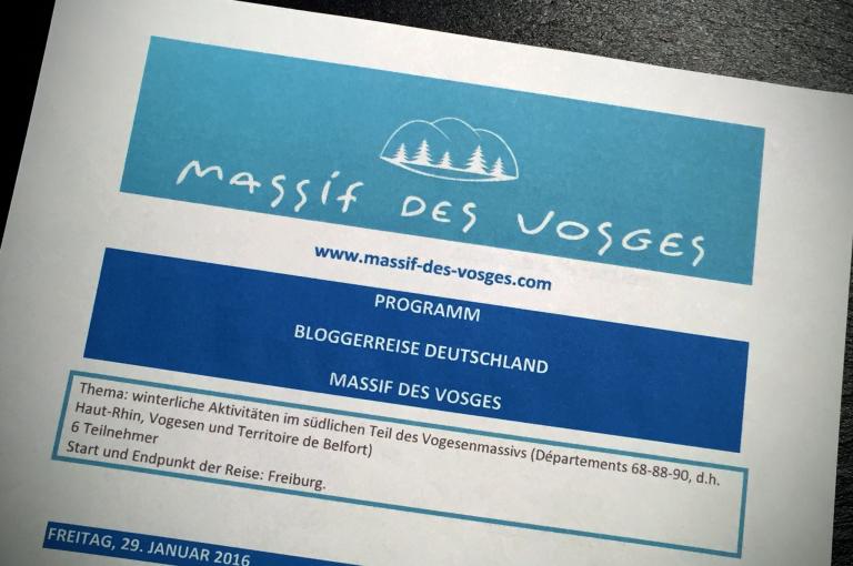 Programmheft der Bloggerreise