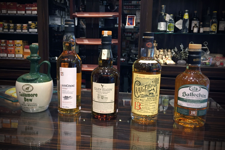 Whisky-Lineup bei Tabak Werner (04/2016)