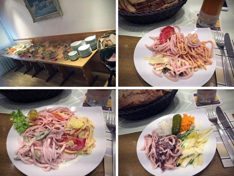7x Wurstsalat vom Buffet