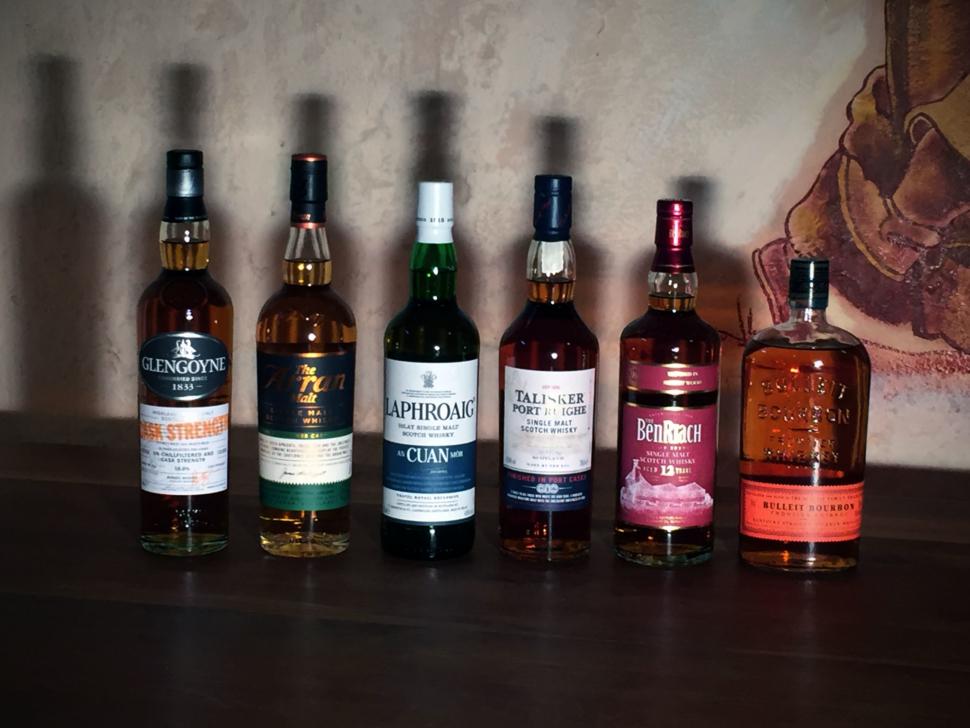 Lineup Whiskymenüabend 10/2016