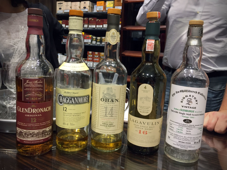 Whisky-Lineup bei Tabak Werner 10/2016
