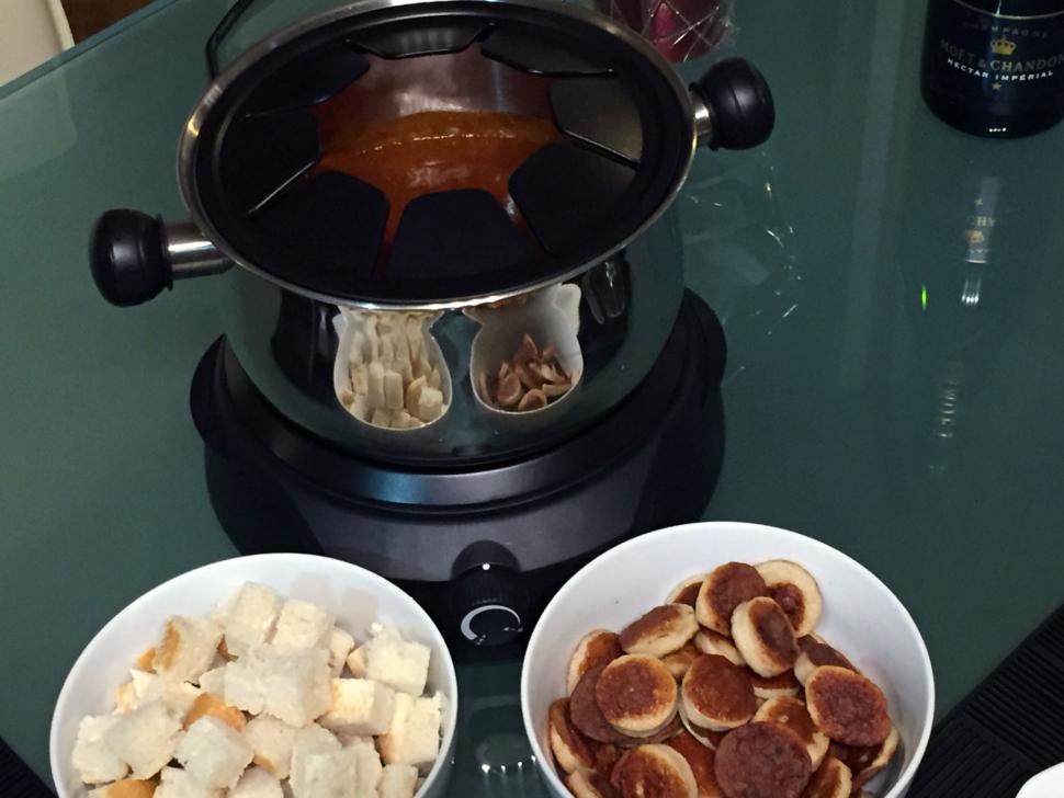 Currywurst-Fondue